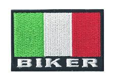 Patche écusson drapeau BIKER ITALIE insigne thermocollant patch 70 x 45 cm