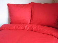 Lot de 3 Mako satin Linge de lit uni rouge 155X220 CM Duvet Set extra longueur