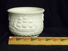 New listing Ceramic Bisque Sailing Ship / Schooner Planter Ready to Paint