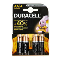Duracell Alkaline Batteries 4 x AA (1.5V) LR6/MN1500 Long Lasting Power NEW