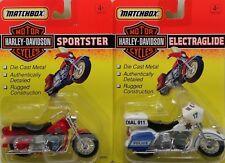 1993 Matchbox Harley Davidson 1:18 Electraglide Police & Sportster Motorcycles