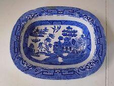 Blue Willow Pattern Ridgway Semi China Engraved Oblong Bowl Ridgeway Rectangular