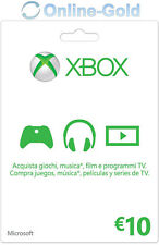 10 EUR - Carta regalo Xbox Codice digitale €10 Euro prepagato Xbox One 360 - IT