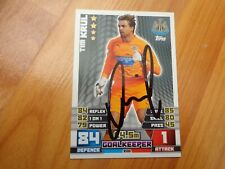 GENUINE HAND SIGNED TIM KRUL NEWCASTLE UNITED MATCH ATTAX 2014-2015 CARD