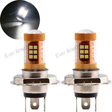 2x H4 3030 28 SMD LED Projector Car Truck Front Fog Lamps Driving Lights 12V 24V