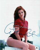 Angie Everhart Signed 8X10 Photo Autograph Playboy Sex Red Shirt GP330257