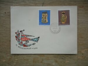 Hungary 1968 Belyegnap FDC Altungarische pottery (Hungarian Pottery)