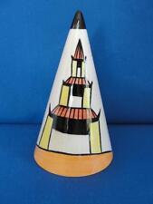 """Vintage Lorna Bailey Art Deco Conical Sugar Shaker """"Pagoda Garden"""""""