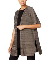 Eileen Fisher Womens Sweaters Brown Size XL Cardigan Marled-Knit $298- 260