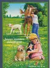 FRANCE 2006.BLOC-FEUILLET DE 4 TIMBRES GOMMES NEUF.LES JEUNES ANIMAUX DOMESTIQUE