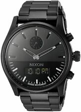 Nixon Men's A932001 Duo Analog Digital All Black IP Steel Watch A932-001-00