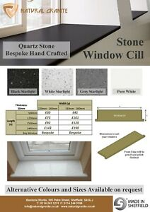 Quartz Granite Stone Window Sills Cill 1220mm x 220mm  £73 Choose Colour UK Made