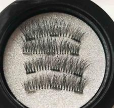 4 Stück 3D Magnet Wimpern mit 3 Magneten Magnetische künstliche Wimpern Make-up