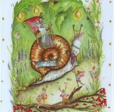 """Mint.! """"Wedding Day!"""" Bride & Groom Ride Snail,Fairies,Collectible ,Greeting Card"""