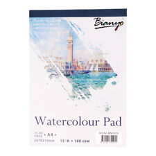 Watercolor Painting Paper Pad Art Drawing Paper Sketchbook 15 Sheets A4 Size