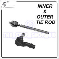 VW Polo Lupo WITH PS LEFT Inner & Outer Tie Rod End Steering Track Rod