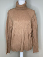 J Crew NWT $95 Women's turtleneck pullover sweater size XL In tan A7