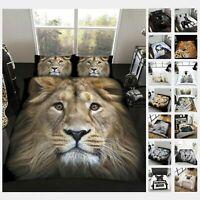 3D ANIMAL PRINT FAUX FUR Throw Fleece Sofa Bed Blanket Double & King Warm & Cosy