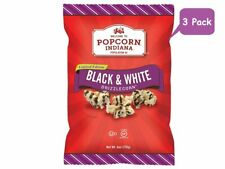 Popcorn Indiana Black and White Drizzle (Pack of 3) Drizzlecorn Gourmet Popcorn