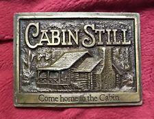 Vintage CABIN STILL Logo belt buckle. Bourbon Louisville Whiskey .