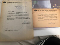2 Original New York Central Railroad Letters Dated 1920s