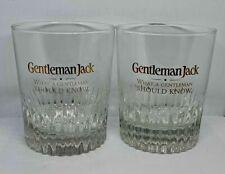 JACK DANIELS - GENTLEMAN JACK SET OF 2 FANCY LOWBALL WHISKEY GLASSES