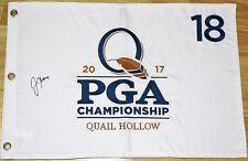 Justin Thomas Signed 2017 PGA Championship Pin Flag - JSA COA 1st Major