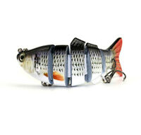 NEW Swimbait 6 Jointed Sections Fishing Lure Crankbait Bass Lures Bait Tackle LN