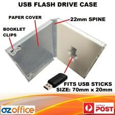 USB Flash Drive Case - DVD Case Style Clear Case - 22mm Spine DVD Case Cover