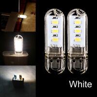 2Pcs Mini USB 3 LED White Night Light Lamp Gadgets for Car PC Laptop Reading YNS