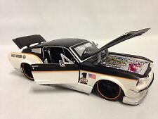"""Harley Davidson 1967 Ford Mustang GT Collect 8"""" Diecast 1:24 Maisto Toy Black/WH"""