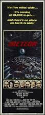 METEOR Movie POSTER 14x36 Insert Sean Connery Natalie Wood Karl Malden Brian