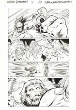 Future Imperfect #4 p.13 - Maestro and The Thing vs Ulik - 2015 art by Greg Land