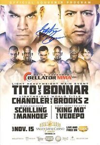 Stephan Bonnar Signed Bellator 131 Official 2014 Event Program vs Tito Ortiz UFC