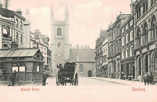 Reading,U.K.Market Place,Horse Drawn Wagon,Berkshire,Publ.by Stengel,c.1901-06
