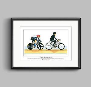 Sir Chris Hoy, Keirin, 2012 Olympics - Limited Edition Fine Art Print A3 size