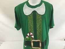 Santa's Elf T Shirt Christmas Holiday Costume Candy Cane 100% Cotton 2XL