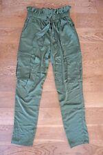 RO&DE Satin Cargo Pants Army Green Bronze Small