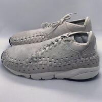 Nike Air Footscape Woven Chukka QS Light Bone White 913929-002 New Men's Size 10