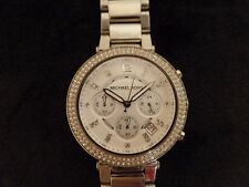 Michael Kors Women's MK 5354 Chronograph Parker Silver Ion Plated Stainless