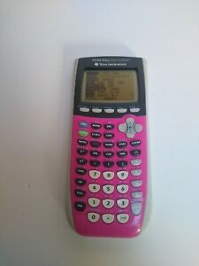 TI-84 Plus Silver Edition Texas Instruments  Calculator Missing Battery Cov PINK