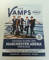 """THE VAMPS & UNION J - 2015 UK Tour Flyer 5.12""""X8.2"""" Collectible For Framing Gift"""