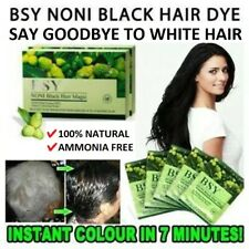 BSY Noni Black Hair Magic Color Dye Shampoo Beard Mustache 20 sachets x 20ml