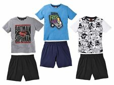 (R39) Kinder Jungen Shorty Schlafanzug Hausanzug Pyjama Angry Birds Simpsons NEU