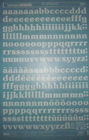 WHITE LETRASET Rub On Transfers SOUVENIR BOLD 60pt (#2622) NEW *RARE*