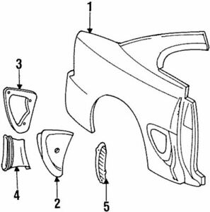 Genuine Ford Duct F6ZZ63279D38AA