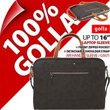 "Golla Air Handle Sleeve for Laptops 16"" Bag Padded Slim Carry Case 15.6 Shoulder"