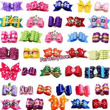 200 Puppy dog Pet YORKIE grooming bow*1 Free Princess & 1 Halloween Bow Free