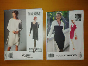 2 UNCUT Vogue Tom and Linda Platt Sewing Patterns 1345 2943