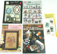 Lot of CROSS STITCH Pattern Booklets of FLOWERS, HOUSEPLANTS & FRUIT Rose Catus